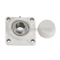 FPL Series - Thermoplastic 4 Bolt Flange Housed Bearing Units (White)