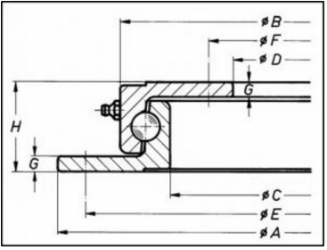 1050n turntable bearing trailer ring bearing revolution rh bearingrevolution co uk 2D Schematic Bearing Tapered Bearings Schematic