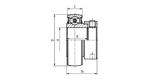 1240 40 EC  ( SA 208 ) - 'Premium' Bearing Insert with a 40mm bore. Schematic