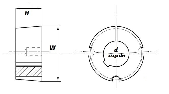 Free UK Postage 1610-14 Taper Bush 14mm Bore