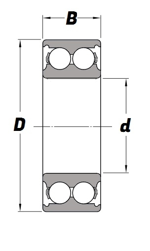 3314 C3, Angular Contact Bearing with a 70mm bore - Budget Range Schematic
