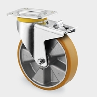 160mm Swivel Castor Wheel with Brake and Polyamide tread, 800kg load capacity