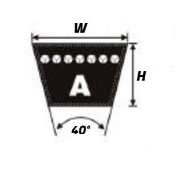 A45-1143MM Pix A Section Vee Belt