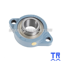 LFTC 12 A  ( SBLF 201 )  -  Oval Flange Unit with a 12mm bore - TR Brand