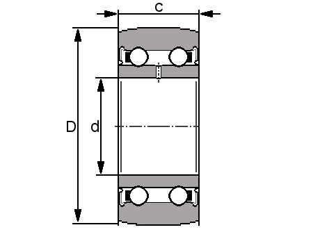 LR 5207 KDDU - Yoke Type Track Roller - Select Range Schematic