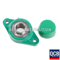NFL 202 S/S N 6 GRN, Green Thermoplastic Oval Flange Housing Unit with a 15 bore - Select Range