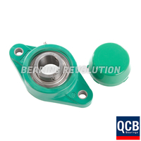 NFL 205 16 S/S N6A GRN, Green Thermoplastic Oval Flange Housing Unit with a 1 inch bore - Select Range
