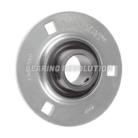 SLFE 1.1/8 A, 'Premium' Round Housing Flange Unit with a 1.1/8 inch bore.
