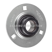 SLFE 15 EC, 'Premium' Round Housing Flange Unit with a 15mm bore.