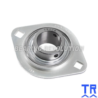 SLFL 15 A  ( SBPFL 202 ) - Oval Flange Unit with a 15mm bore - TR Brand