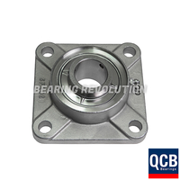 SSUCF 203 SB - Stainless Steel Square Flanged Unit with a 17mm bore - Select Range