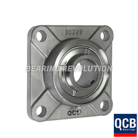 SSUCF 207 SB - Stainless Steel Square Flanged Unit with a 35mm bore - Select Range