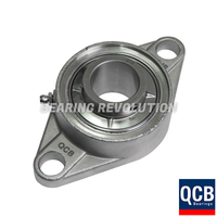 SSUCFL 201 SB - Stainless Steel Oval Flanged Unit with a 12mm bore - Select Range