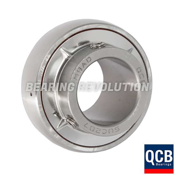 "SUC205-16 Stainless Steel Insert Bearing 1/"" Bore"