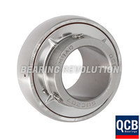 SUC 207 22, Stainless Steel Bearing Insert with a 1.3/8 inch bore - Select Range